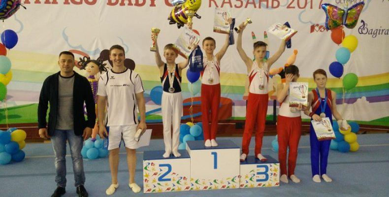 Гимнасты СШОР №4 завоевали четыре медали на Olympico Baby Cup-2017